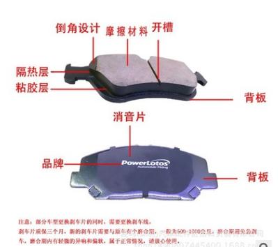 北京现代伊兰特汽车专车专用普华力拓制动刹车片后轮四片一套代发