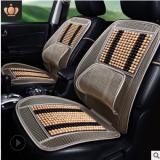 汽车用品夏季新款凉垫木珠座垫竹片坐垫通风透气清凉垫子连体腰靠
