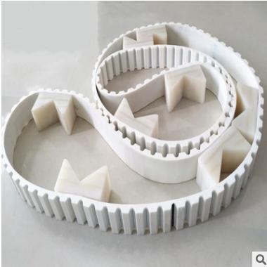 厂家直销 聚氨酯同步带AT20挡板传动带 白色环形同步带 工业皮带