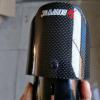 天蝎AK 短款直边碳纤维尾喉 烤黑改装不锈钢汽车排气管装饰消音器