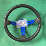汽车改装赛车聚氨酯方向盘竞技游戏转向盘深凹铝合金方向盘350mm