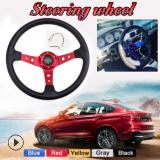 RASTP汽车改装配件方向盘PU通用赛车转向盘竞技游戏卡丁车方向盘