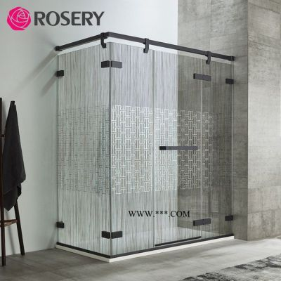 ROSERY玫瑰岛不锈钢长方形淋浴房卫生间隔断门VV系列镀膜沐浴房 不锈钢棒材