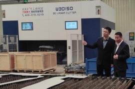 大族激光产业集团产品线总经理周桂兵到访和顺汽车零部件公司