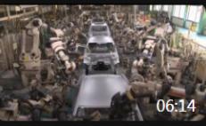 06:14 实拍日本汽车生产流水线, 走进汽车生产车间, 先进现代机械化制造