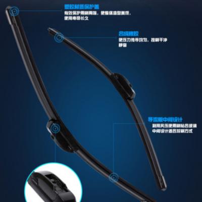 适用于本田CRV雨刷器URV飞度XRV缤智冠道原装镀膜无骨雨刮器片条