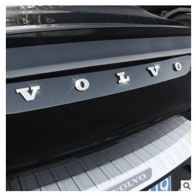 沃尔沃XC60S90XC90S60V60V90CCXC40后备箱标尾标装饰镶钻改装用品