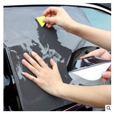 63*42汽车遮阳贴隐私静电贴膜侧窗防晒隔热太阳挡车载侧面遮阳挡